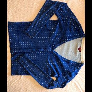 Blue polka dot Merona cardigan
